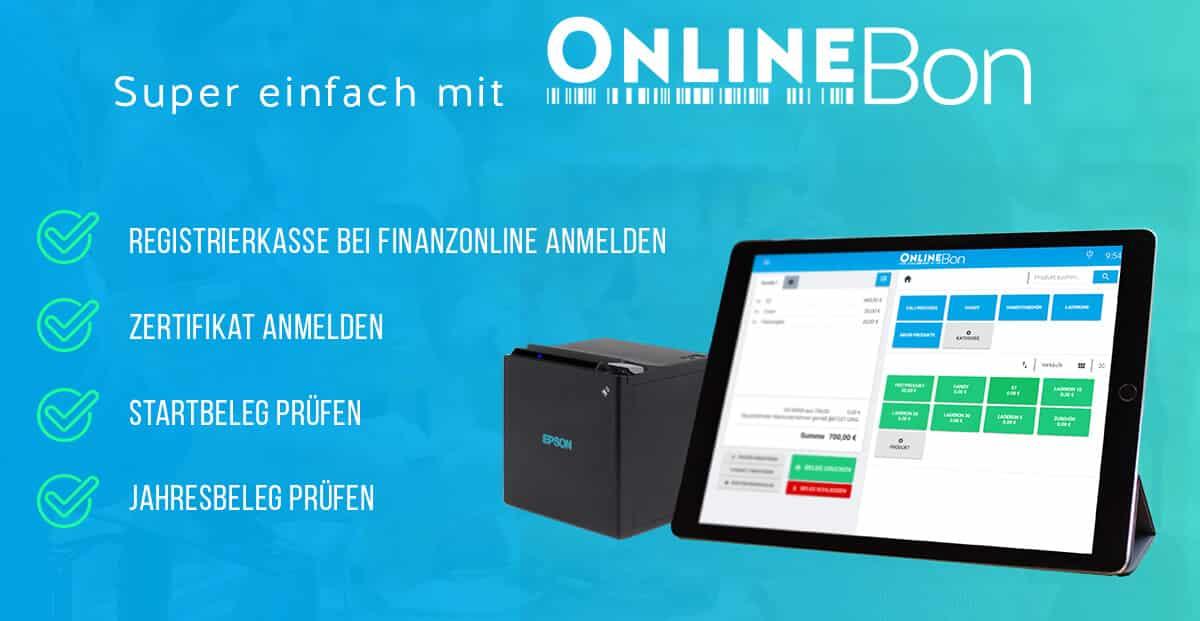 Schritte die onlinebon bei Finanzonline automatisch durchführt